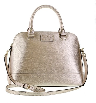 rose gold handbag by kate spade