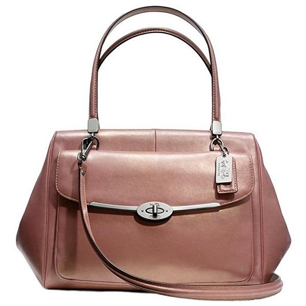 Rose Gold handbags - Coach Madeline Metallic Rose Gold Satchel
