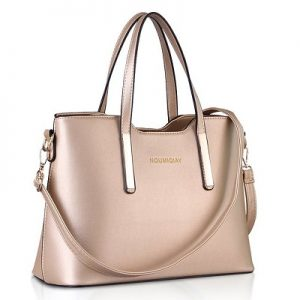 Rose Gold handbags - Cuckoo Fashion Belt Accent Tote Bag