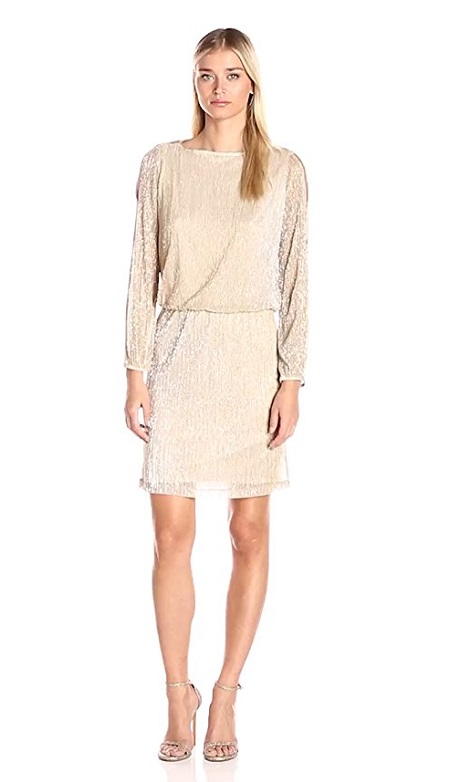 MSK Long Sleeve Cold Shoulder Dress