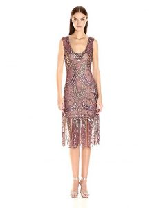 Unique Vintage Women's Sinclair Beaded Flapper Dress