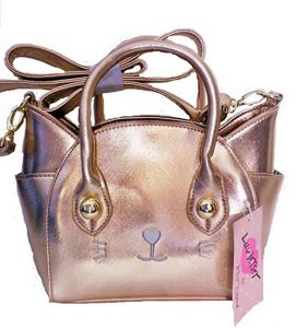 Rose Gold Cat Handbag by Luv Betsey Johnson
